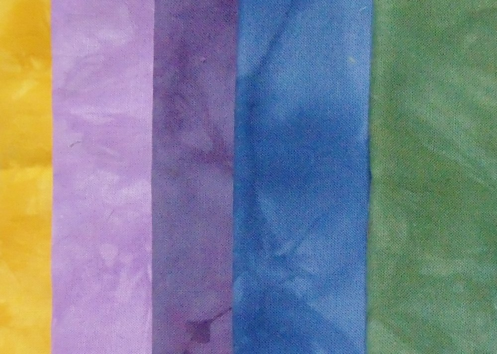 Morning Glory- Hand-Dyed 5pc Fabric Set
