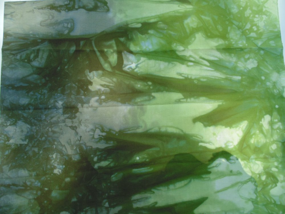 Fields of Green Hand-Dyed Cotton Fabric