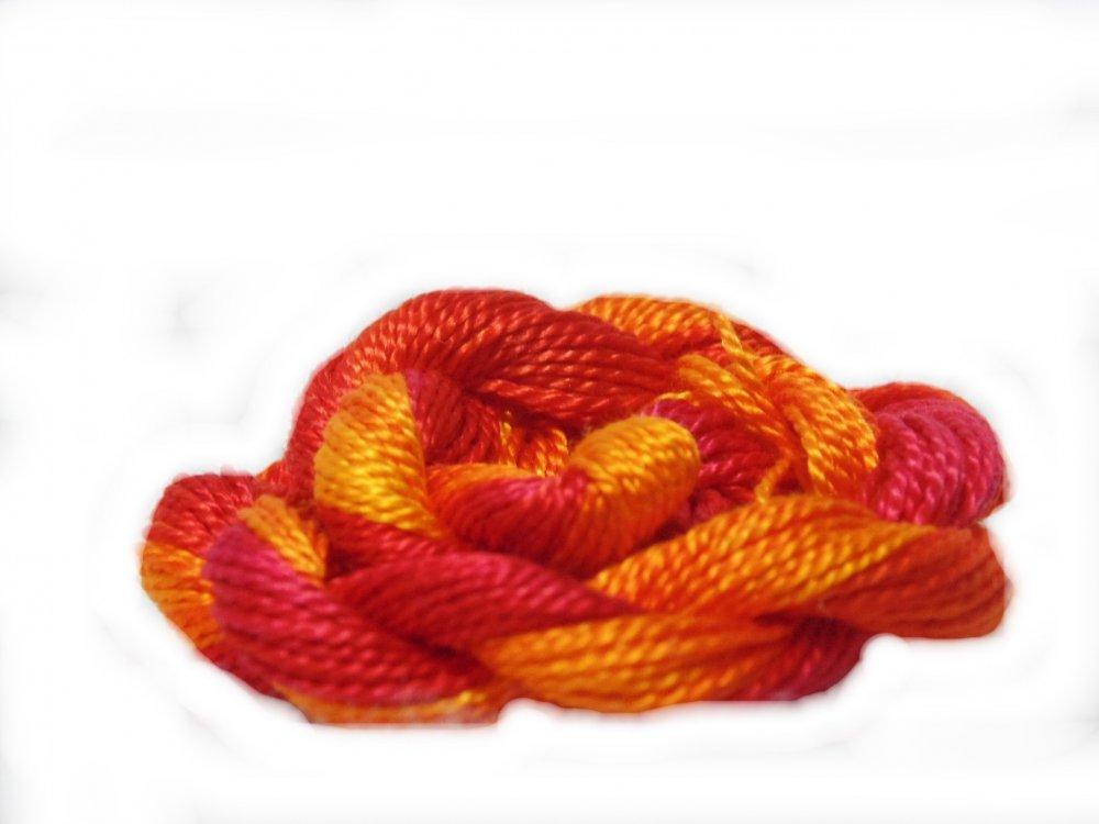Blaze- Hand-dyed Perle Cotton Sz12   20yds