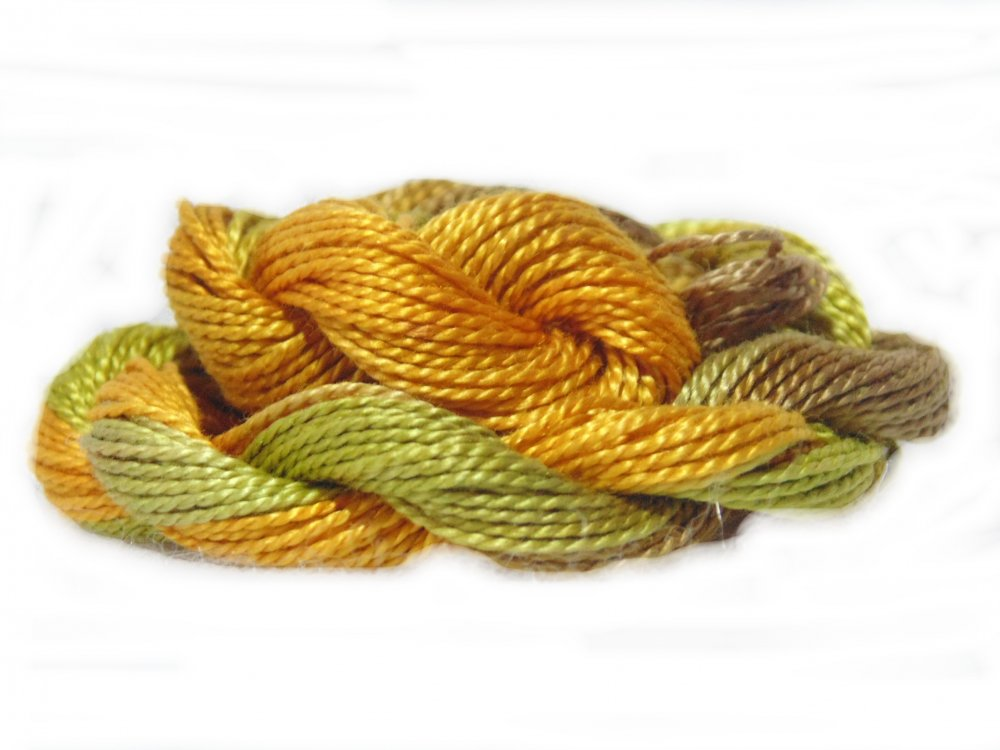 Forest Floor- Hand-dyed Perle Cotton Sz12   20yds