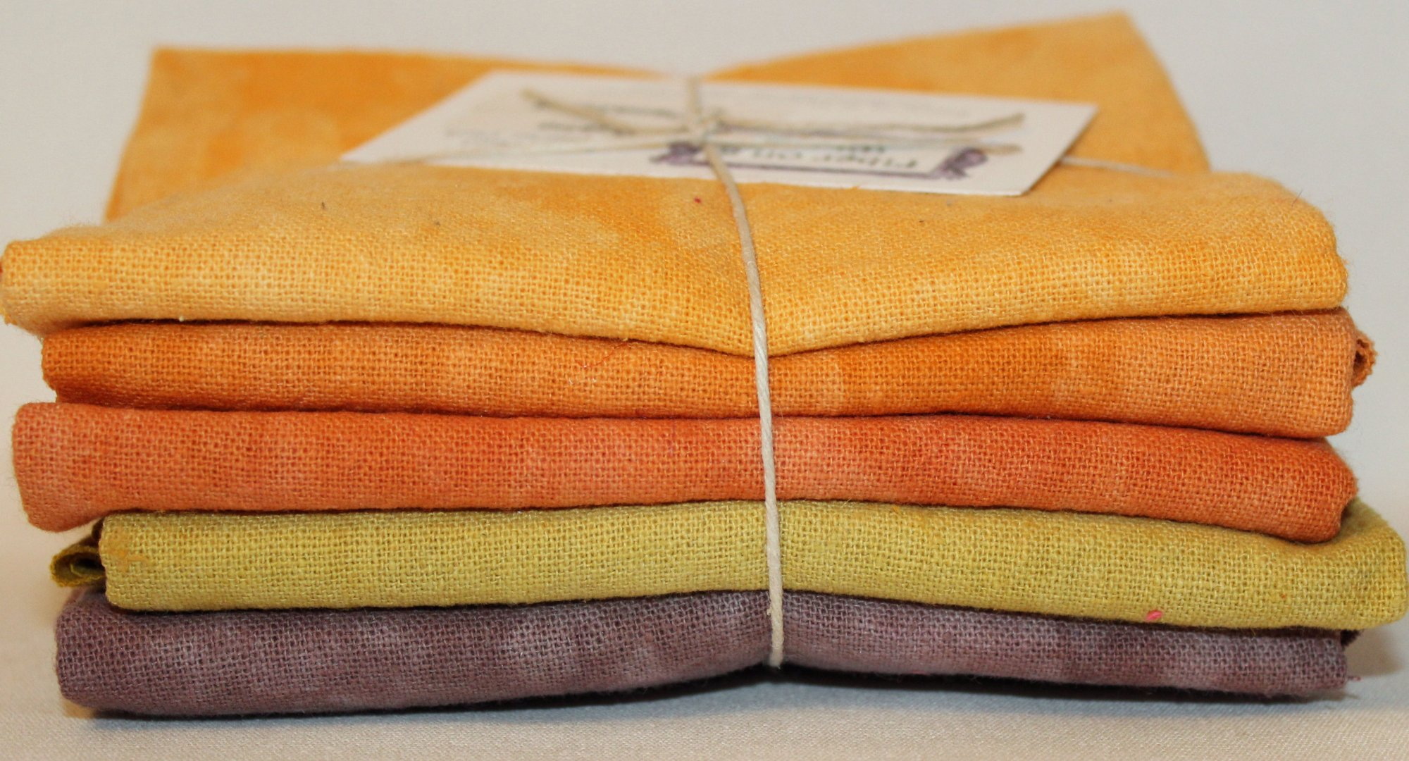 Rustic Hand-dyed Osnaburg Fat Quarter 5pc Set