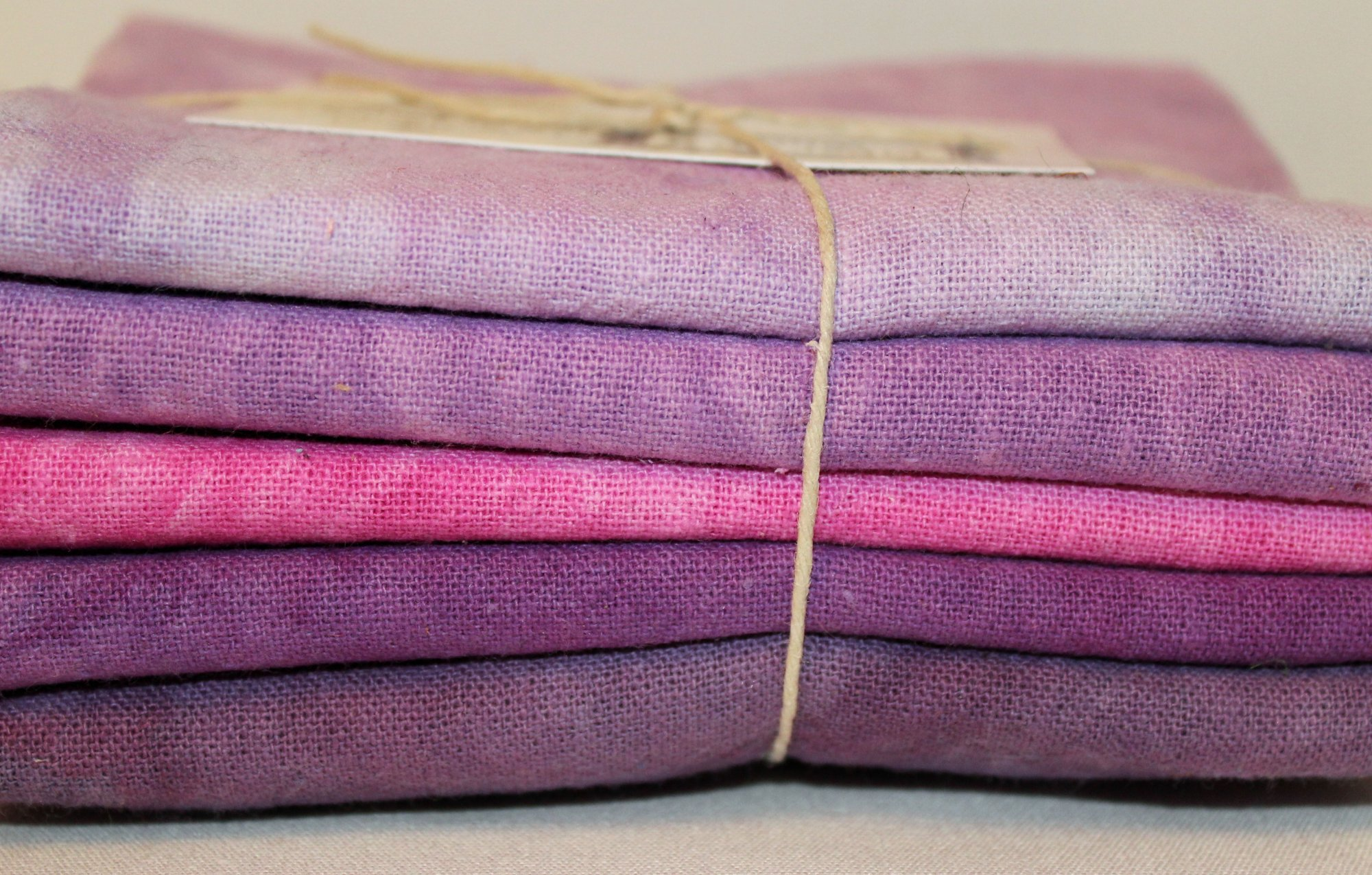 Berry Patch Hand-dyed Osnaburg Fat Quarter 5pc Set