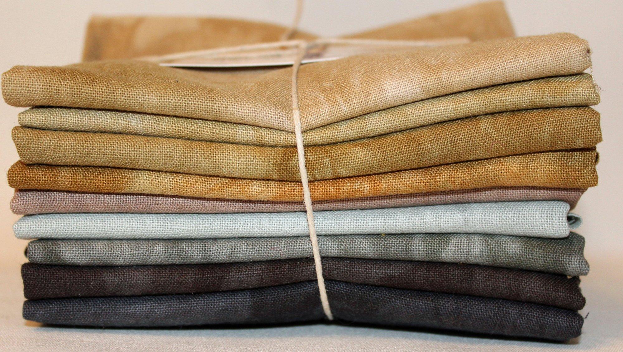 Neutrals Hand-dyed Linen Fat Quarter 9pc Set