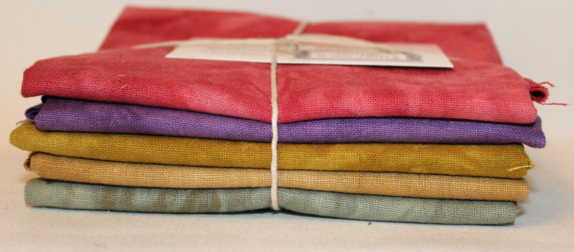 Provence Hand-dyed Linen Fat Quarter 5pc Set