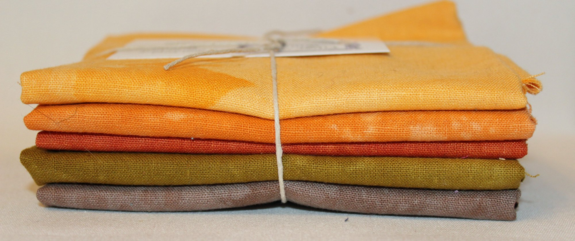 Rustic Hand-dyed Linen Fat Quarter 5pc Set