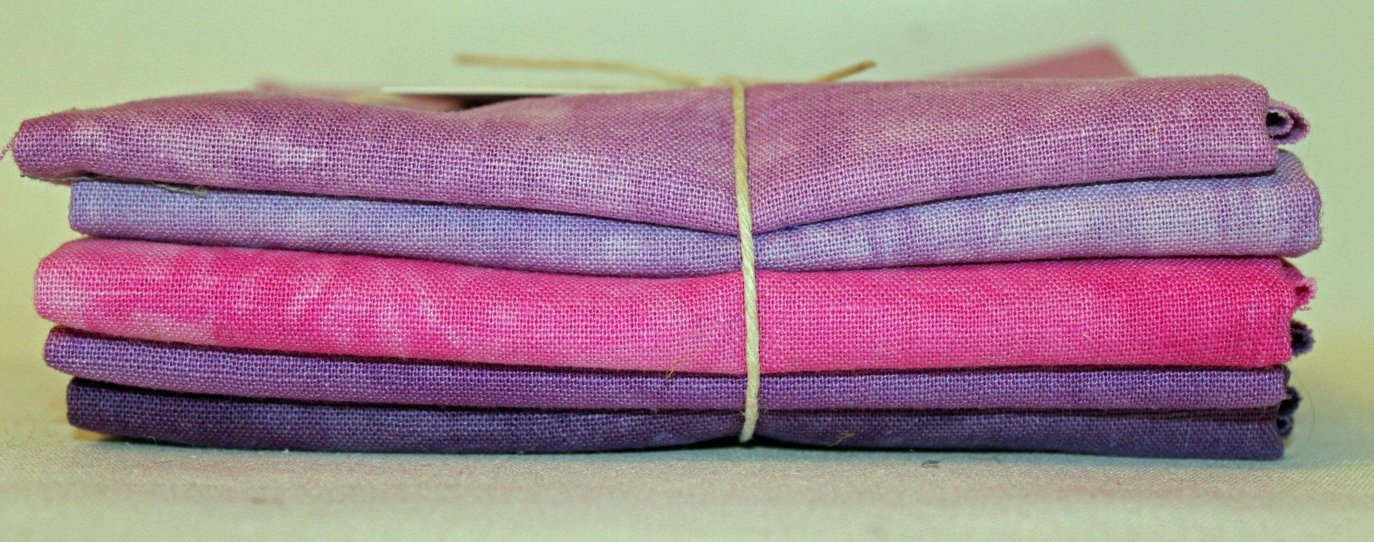 Berry Patch Hand-dyed Linen Fat Quarter 5pc Set