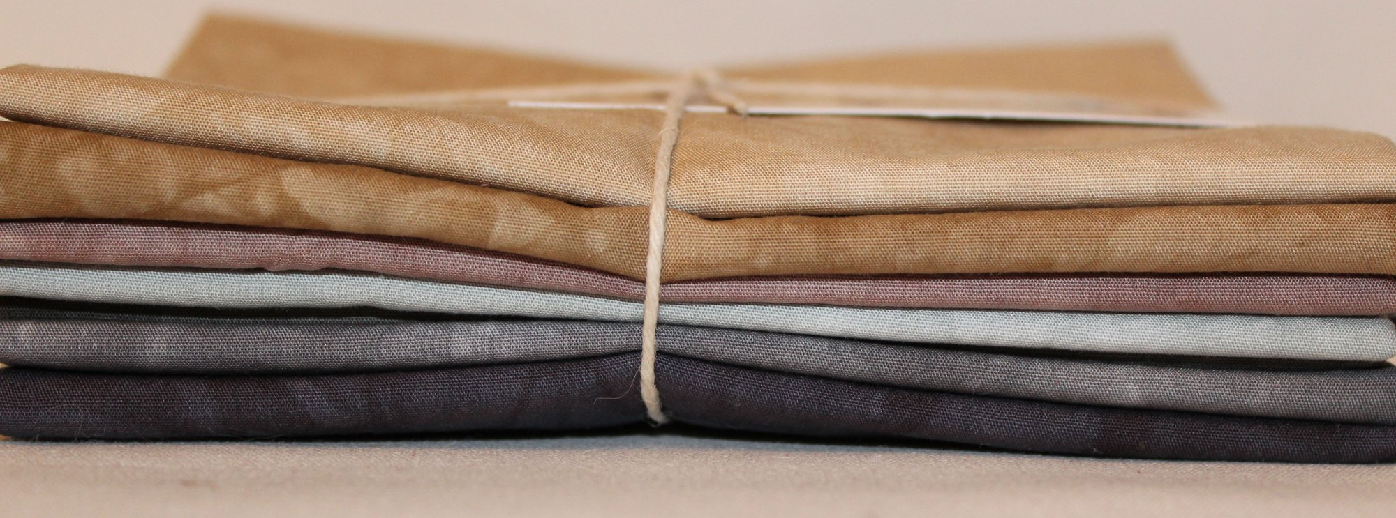 Neutrals- Hand-Dyed 7pc Fabric Set