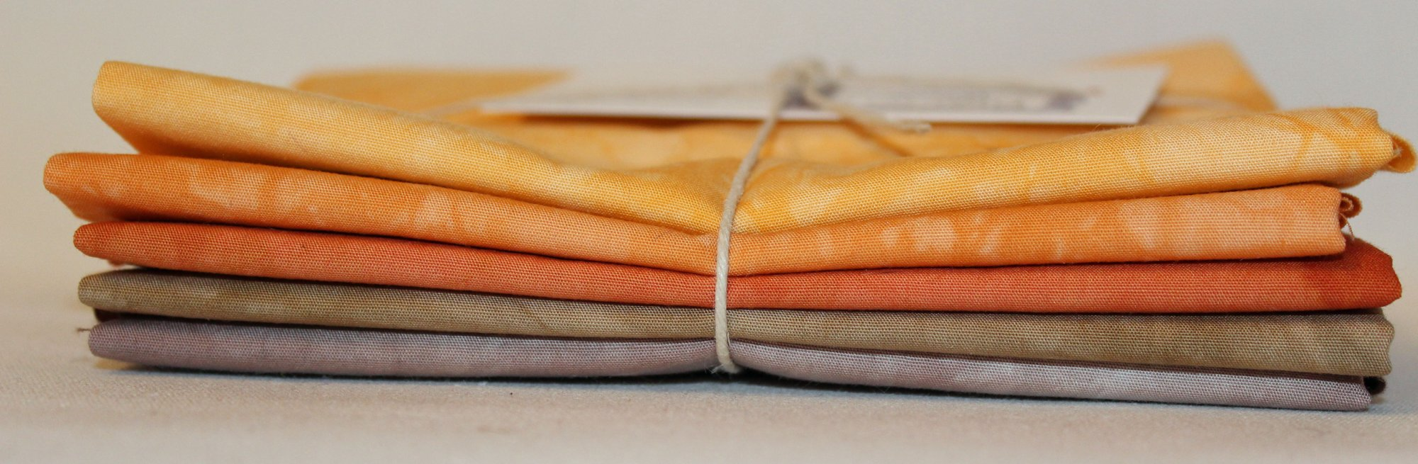 Rustic- Hand-Dyed 5pc Fabric Set