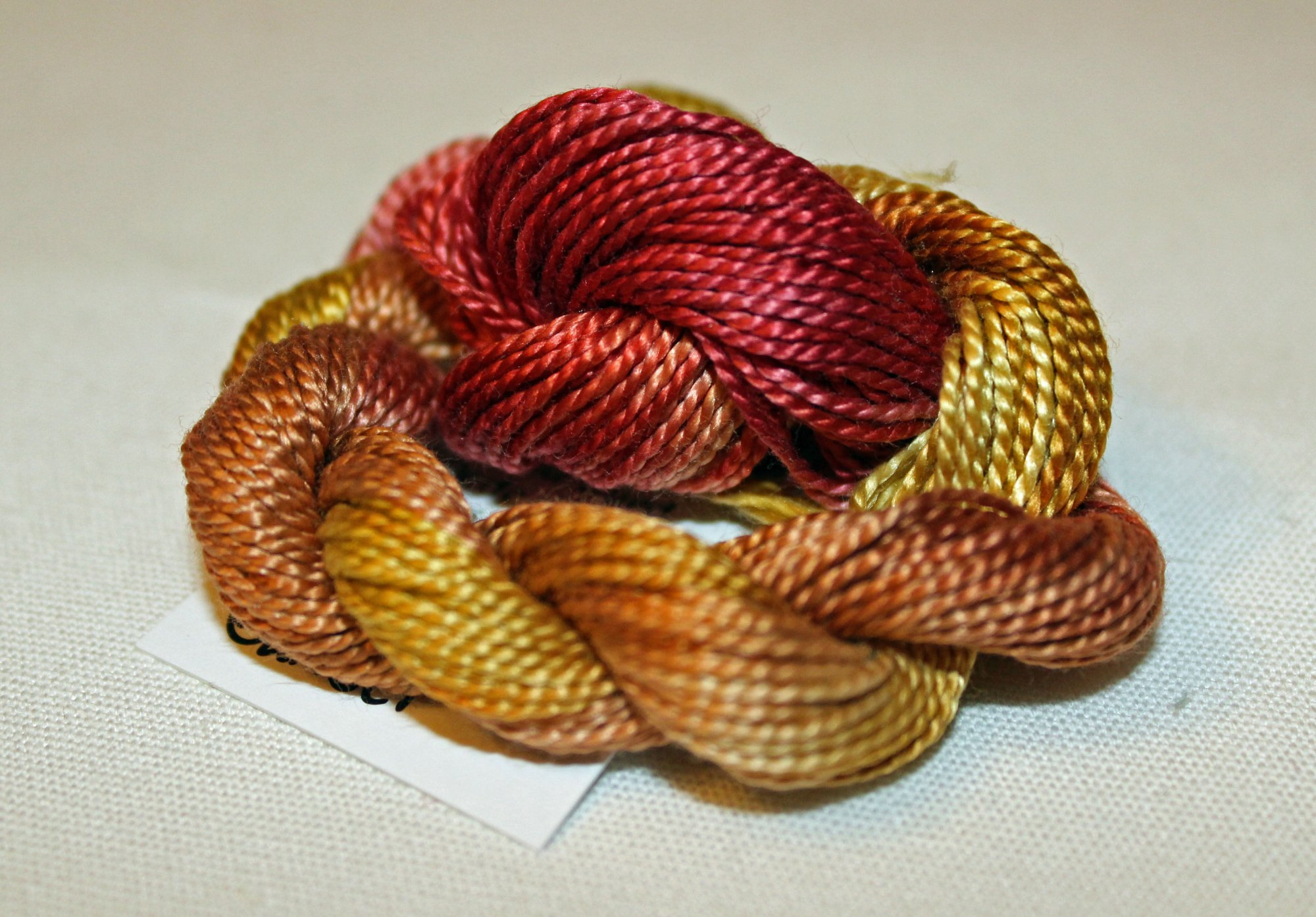 Tuscan Sunset Whisper- 10yds Hand-Dyed Fine Silk Thread