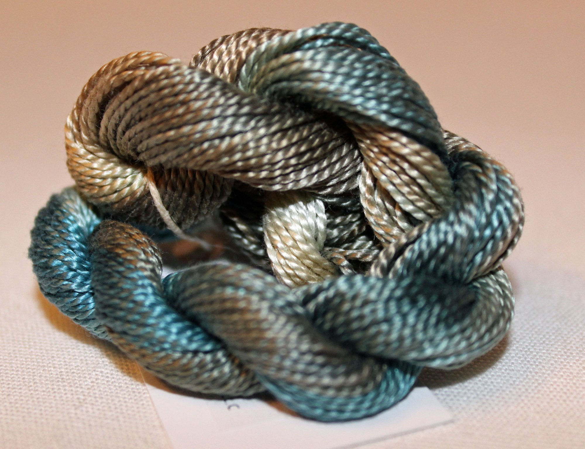Muddy Waters Whisper- 10yds Hand-Dyed Fine Silk Thread
