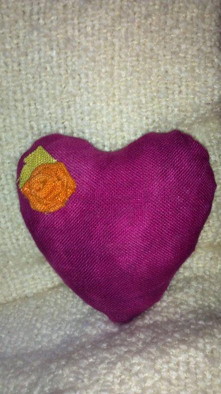 Be Still My Heart Pillow - Shop Sample
