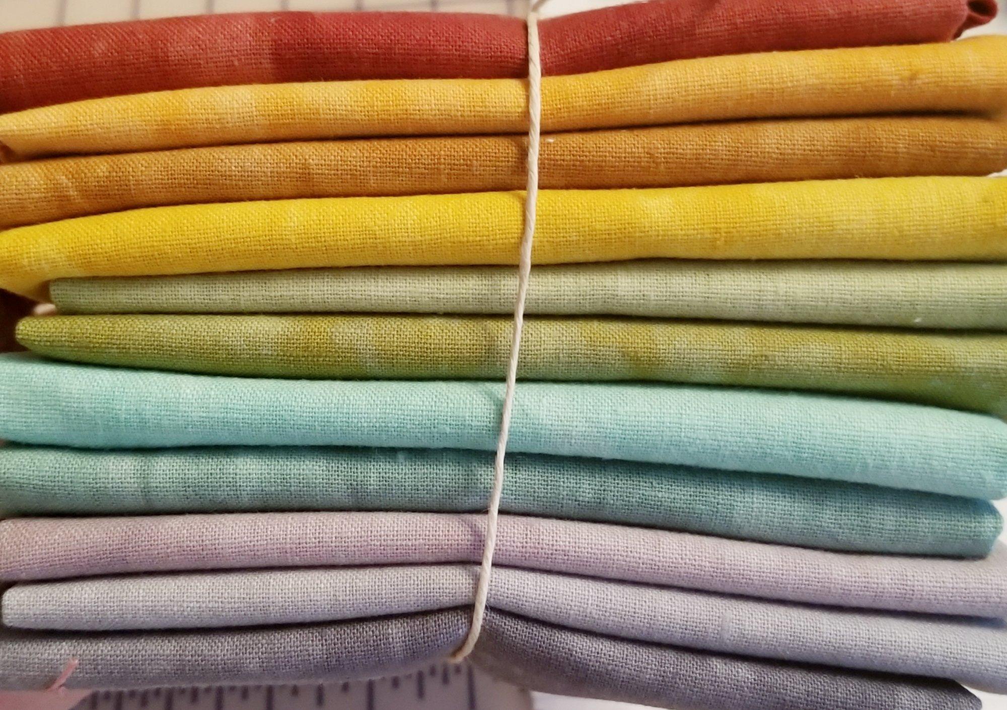 Pinwheels Hand-dyed Linen Fat Quarter 11pc Set