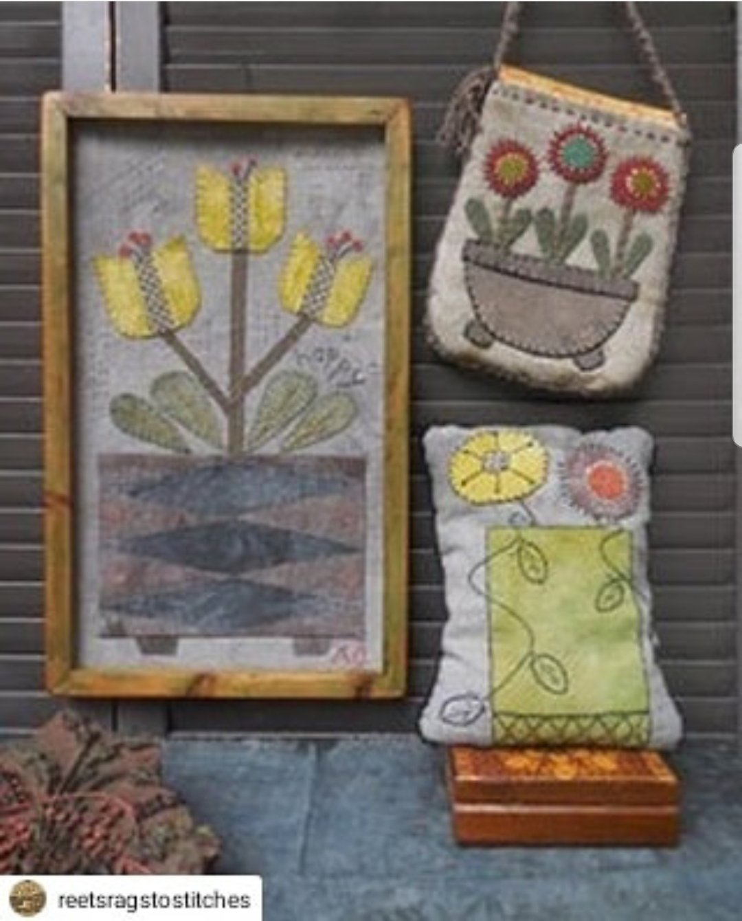 Three Posey Projects by Reet's Rags to Stitches