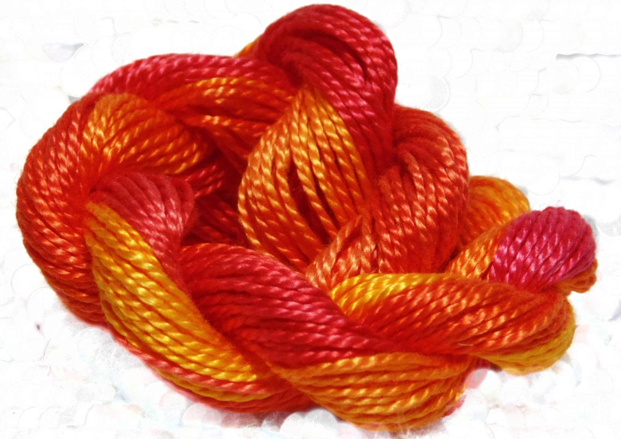 Blaze- Hand-Dyed Perle Cotton Sz 5