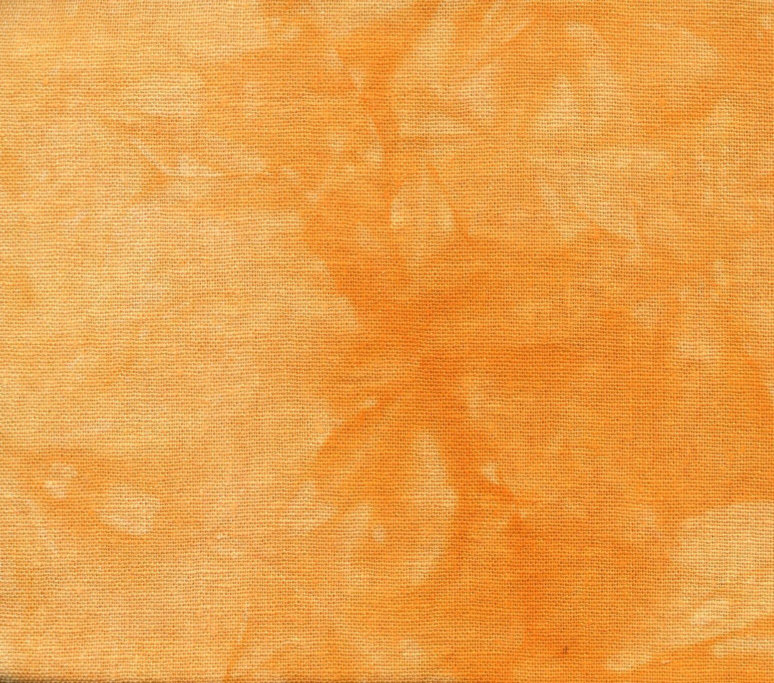 Pumpkin Hand-Dyed Linen