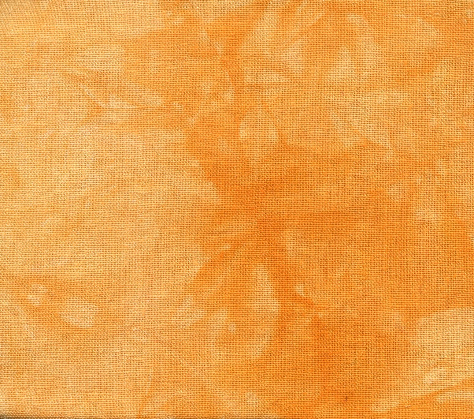 Pumpkin Hand-Dyed Linen Fat Quarter