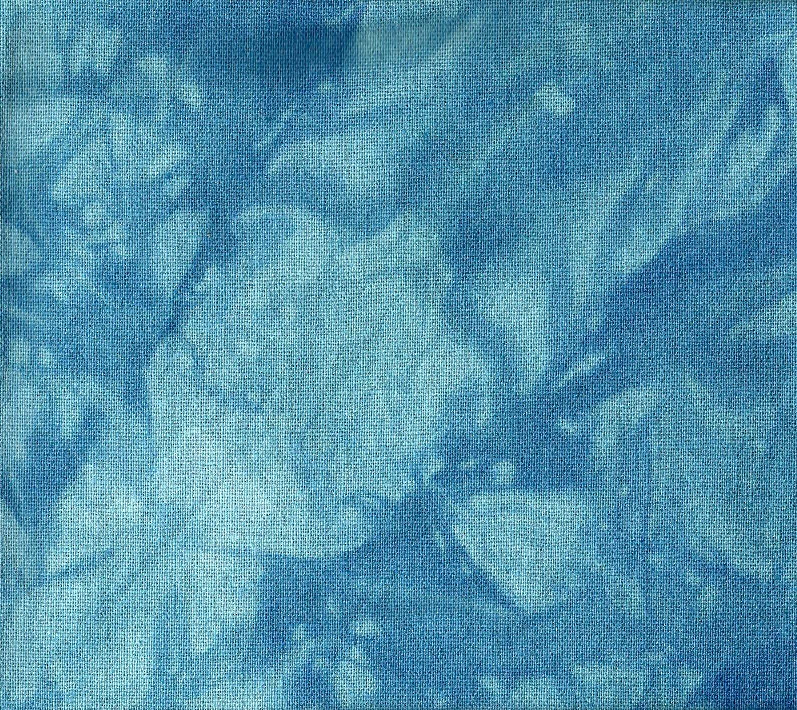 Ocean Blue Hand-Dyed Linen