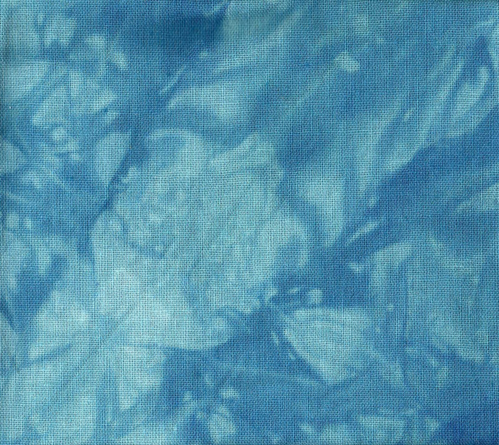 Ocean Blue Hand-Dyed Linen Fat Quarter