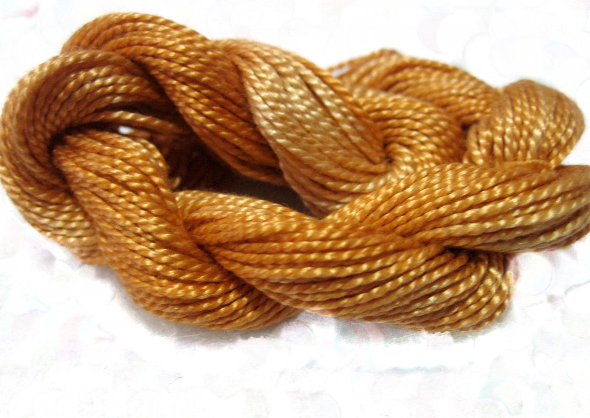 Amber- Solid Hand-Dyed Perle Cotton Size 5