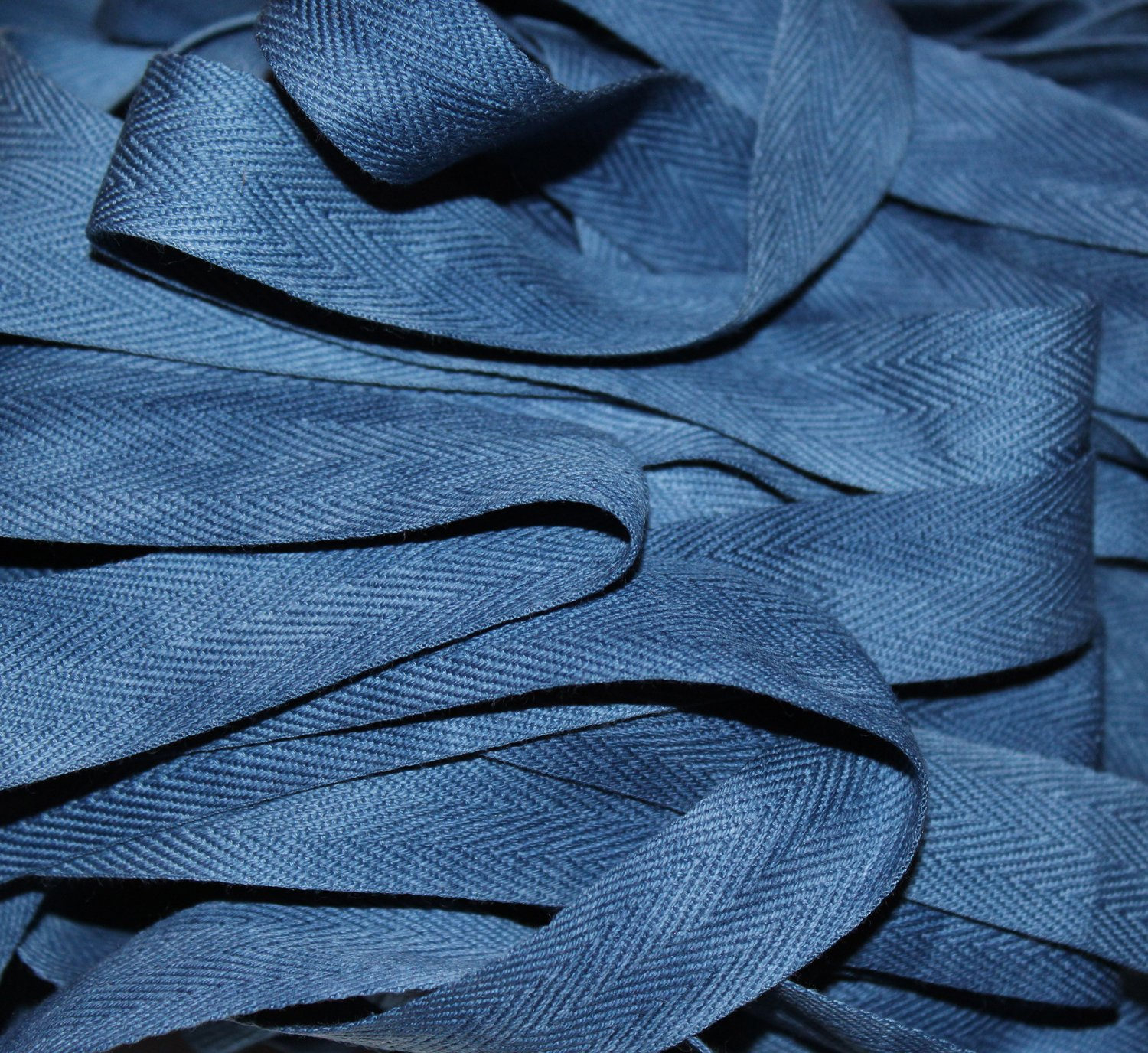 Azure - Hand-dyed Cotton Twill Tape