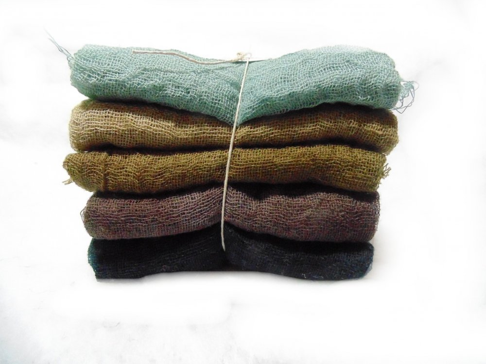 Bark 5pc Hand Dyed Cheesecloth Combo