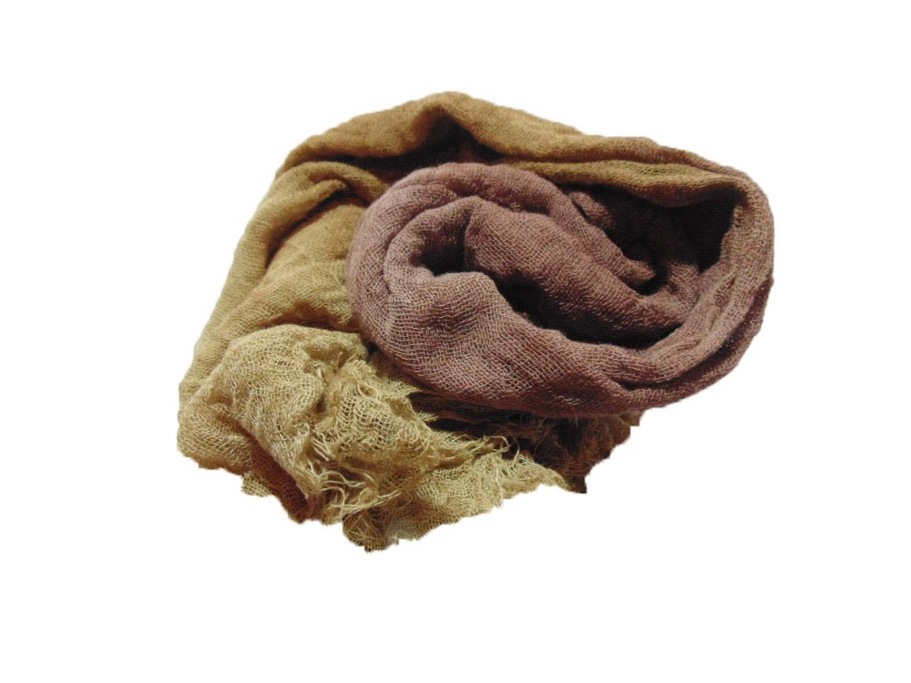 Bark 1yd Hand-Dyed Cheesecloth