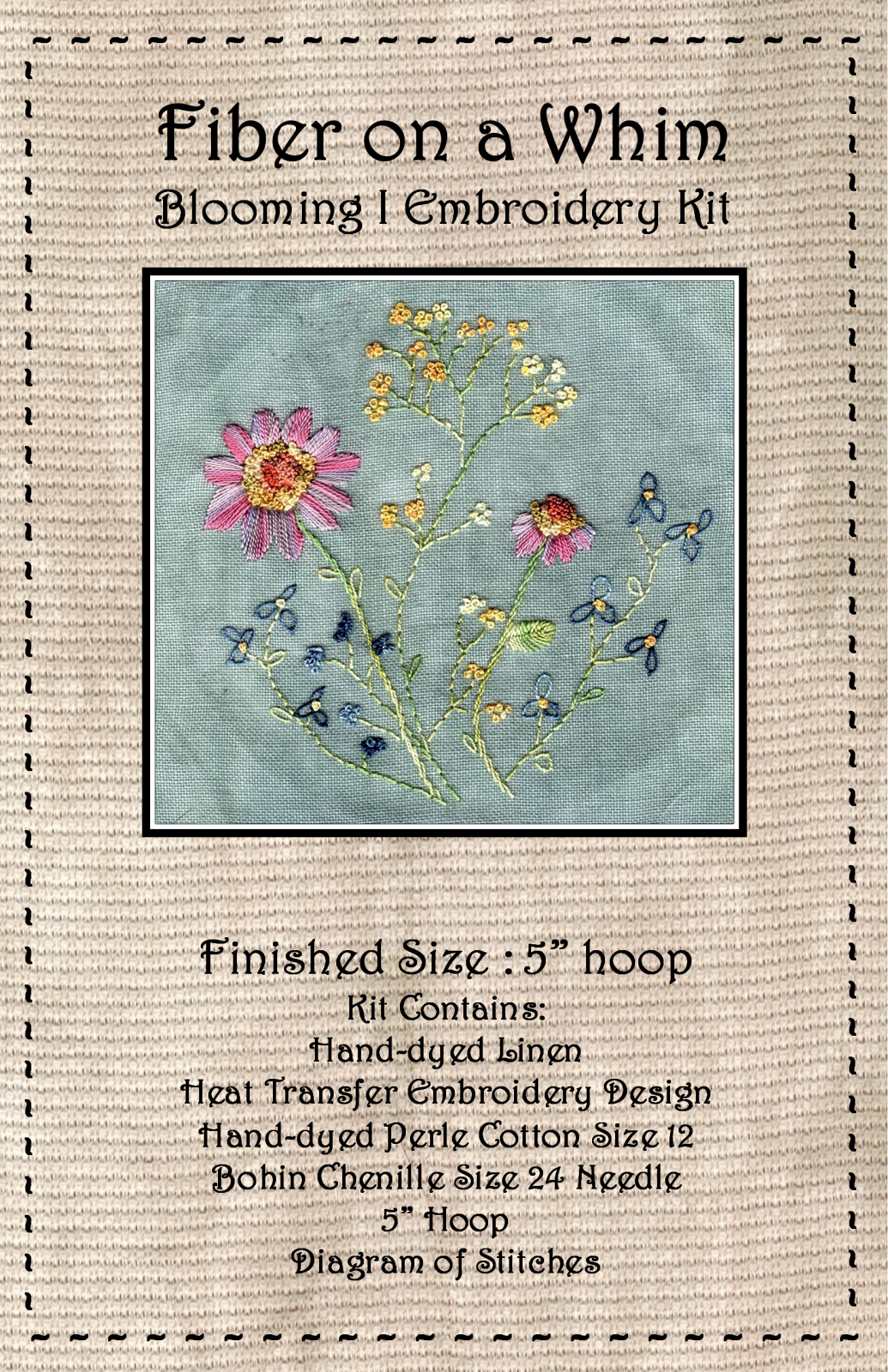 Blooming I Embroidery Kit