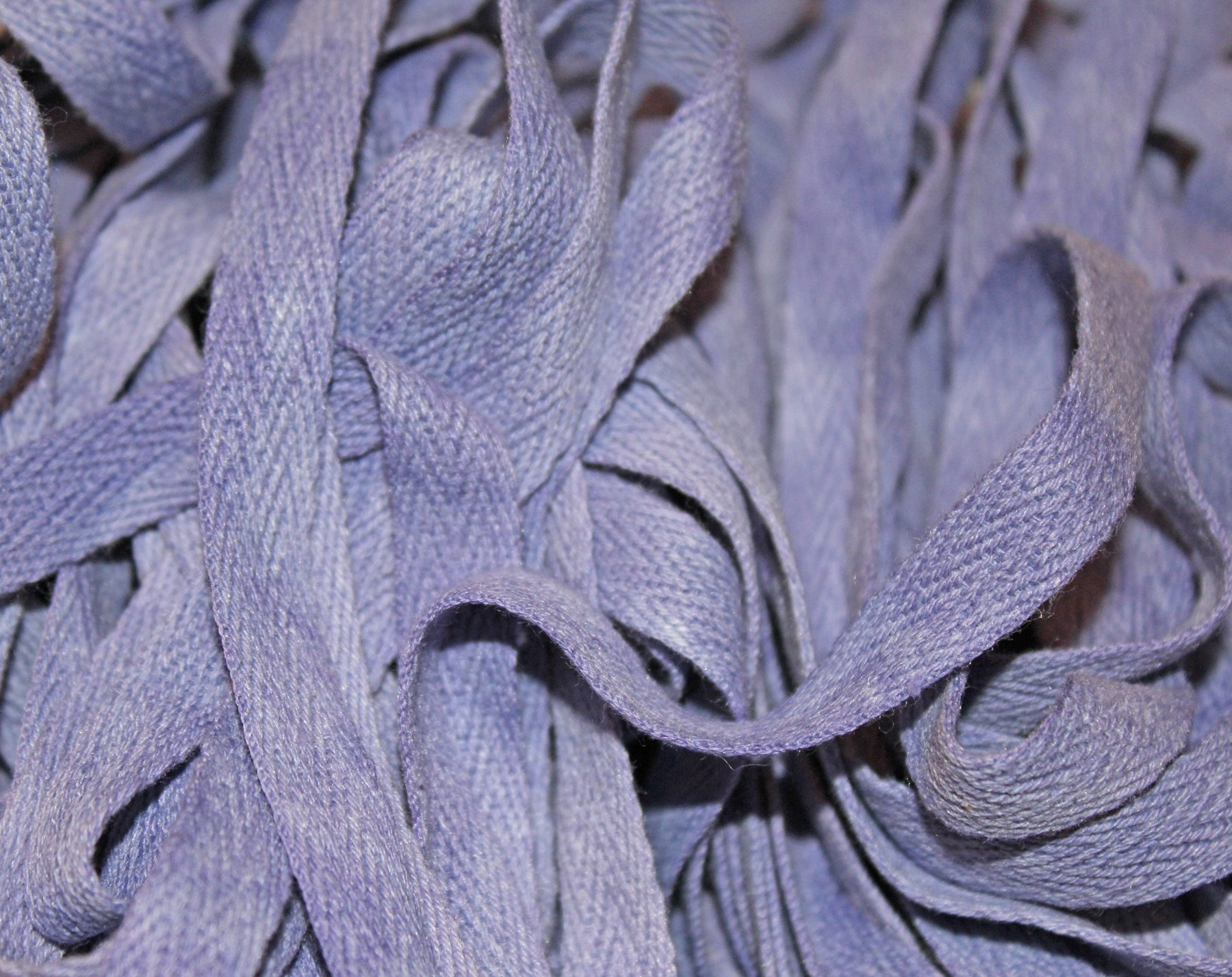 Blueberry - Hand-dyed Cotton Twill Tape