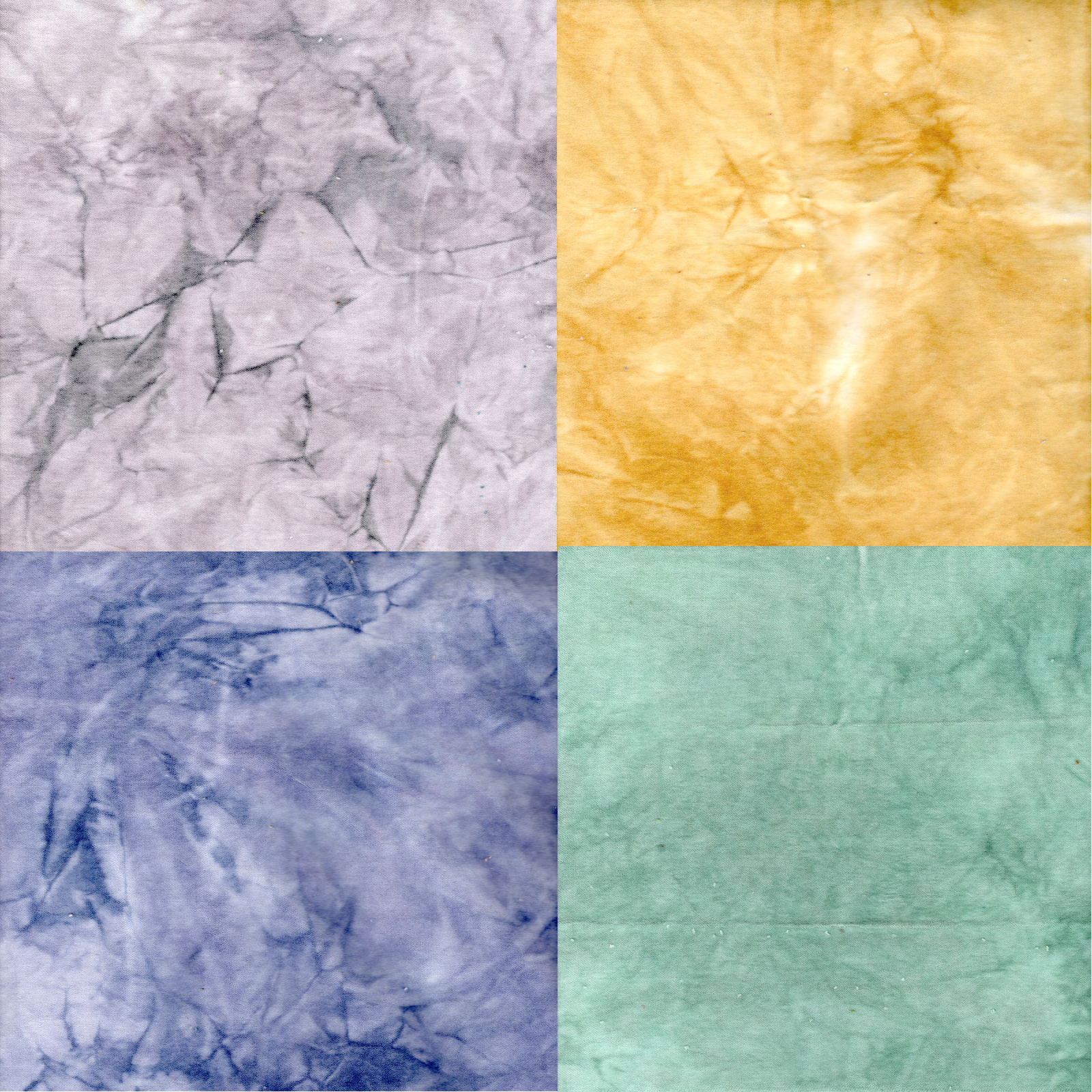 Bluebonnets 4pc Hand-Dyed Cotton Velveteen