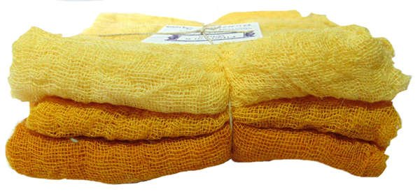 Butternut Squash- 3pc Hand-Dyed Cheesecloth Gradation