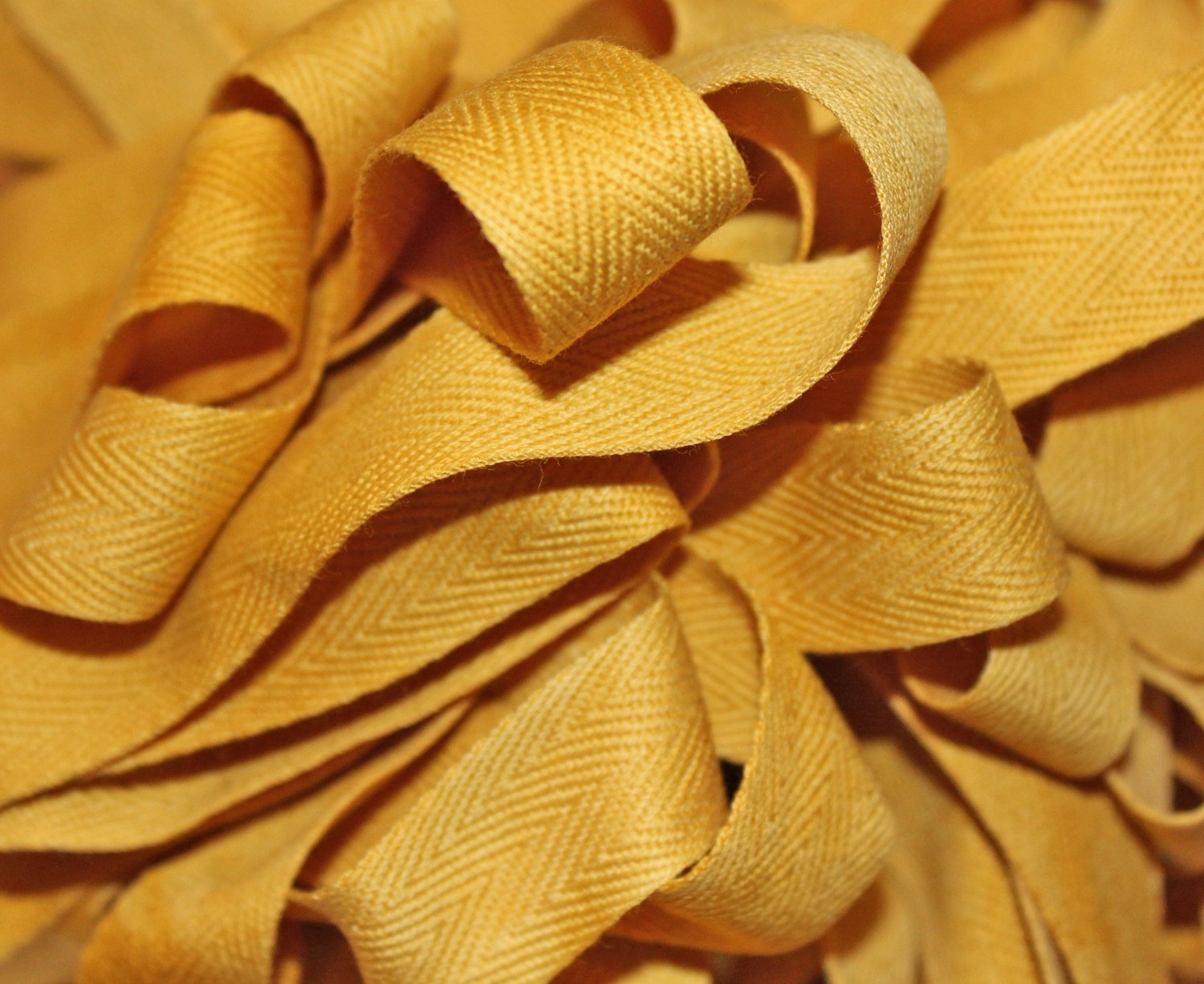 Butternut Squash - Hand-dyed Cotton Twill Tape