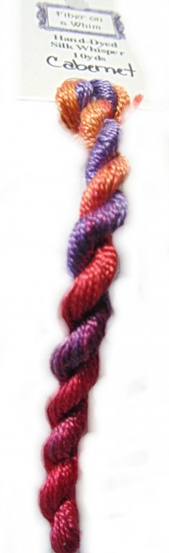 Cabernet Whisper- 10yds Hand-Dyed Fine Silk Thread