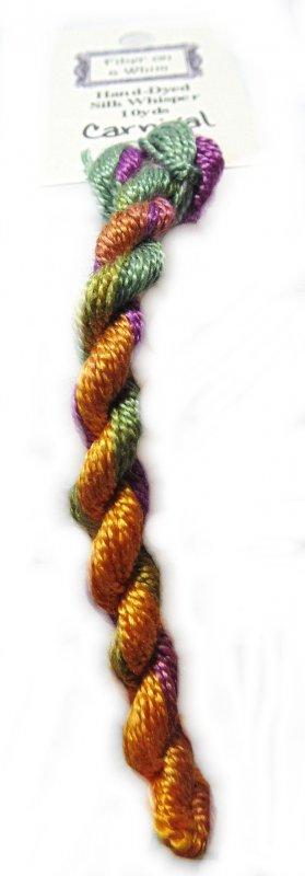 Carnival Whisper- 10yds Hand-Dyed Fine Silk Thread