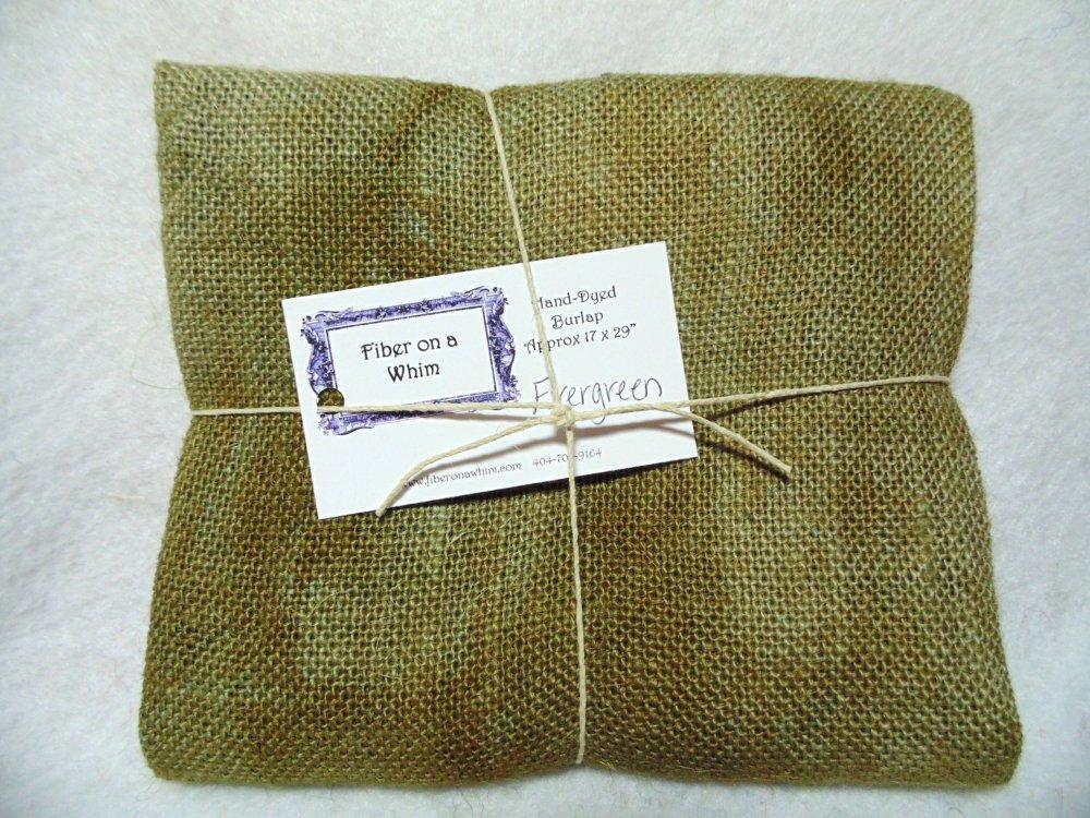 Evergreen Hand-Dyed Burlap