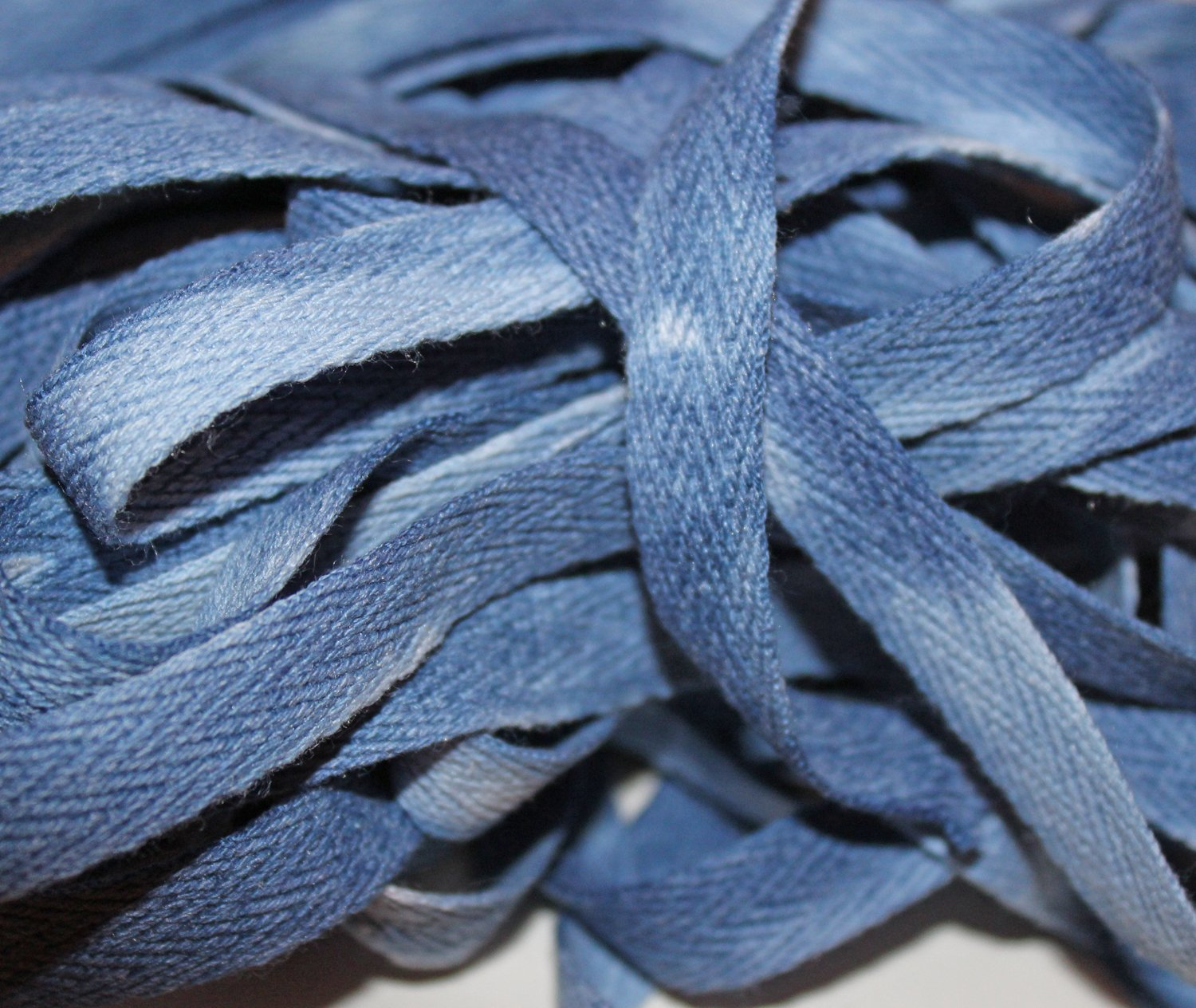 Denim - Hand-dyed Cotton Twill Tape 3/8 wide