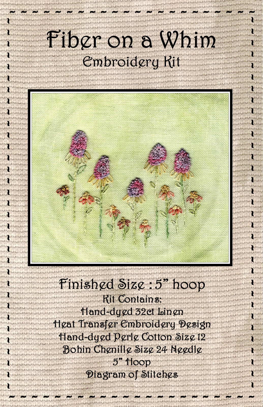 Coneflowers Embroidery Kit
