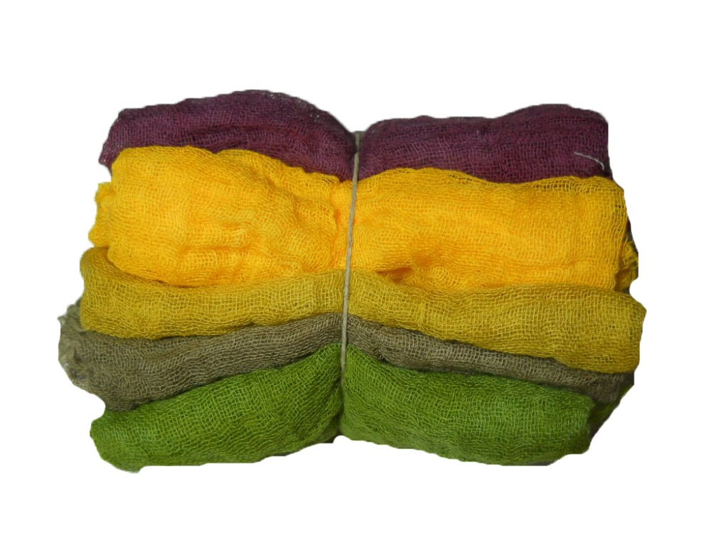 Fall Leaves 5pc Hand Dyed Cheesecloth Combo