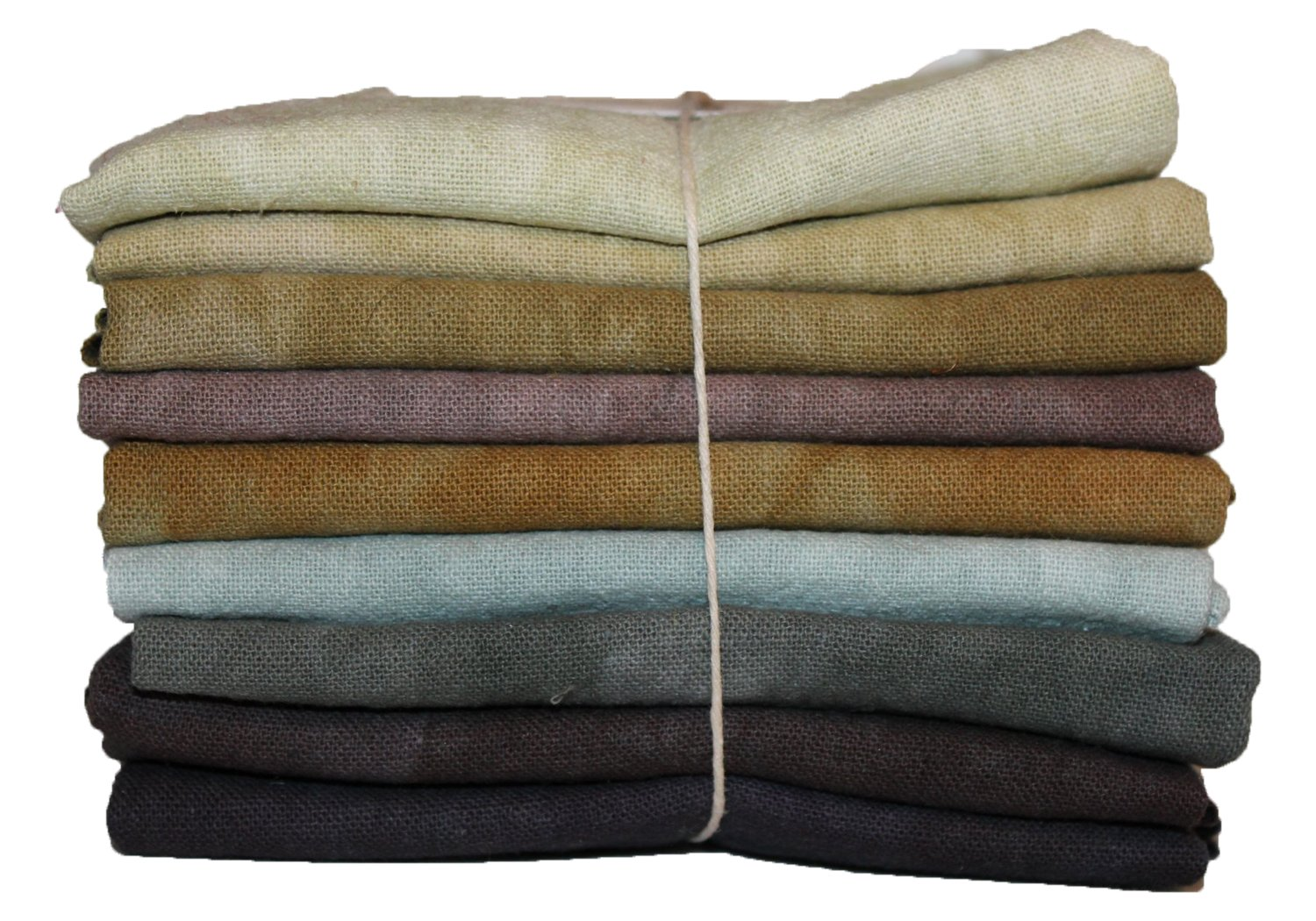 Neutrals Hand-dyed Osnaburg Fat Quarter 9pc Set