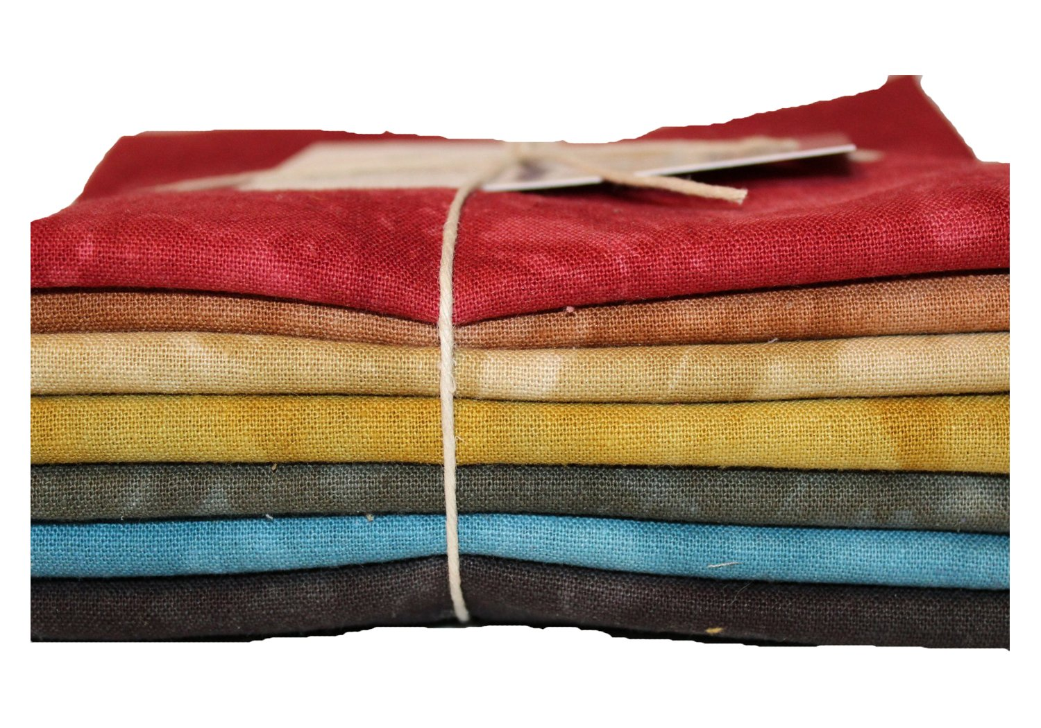 Traditionals Hand-dyed Linen Fat Quarter 7pc Set