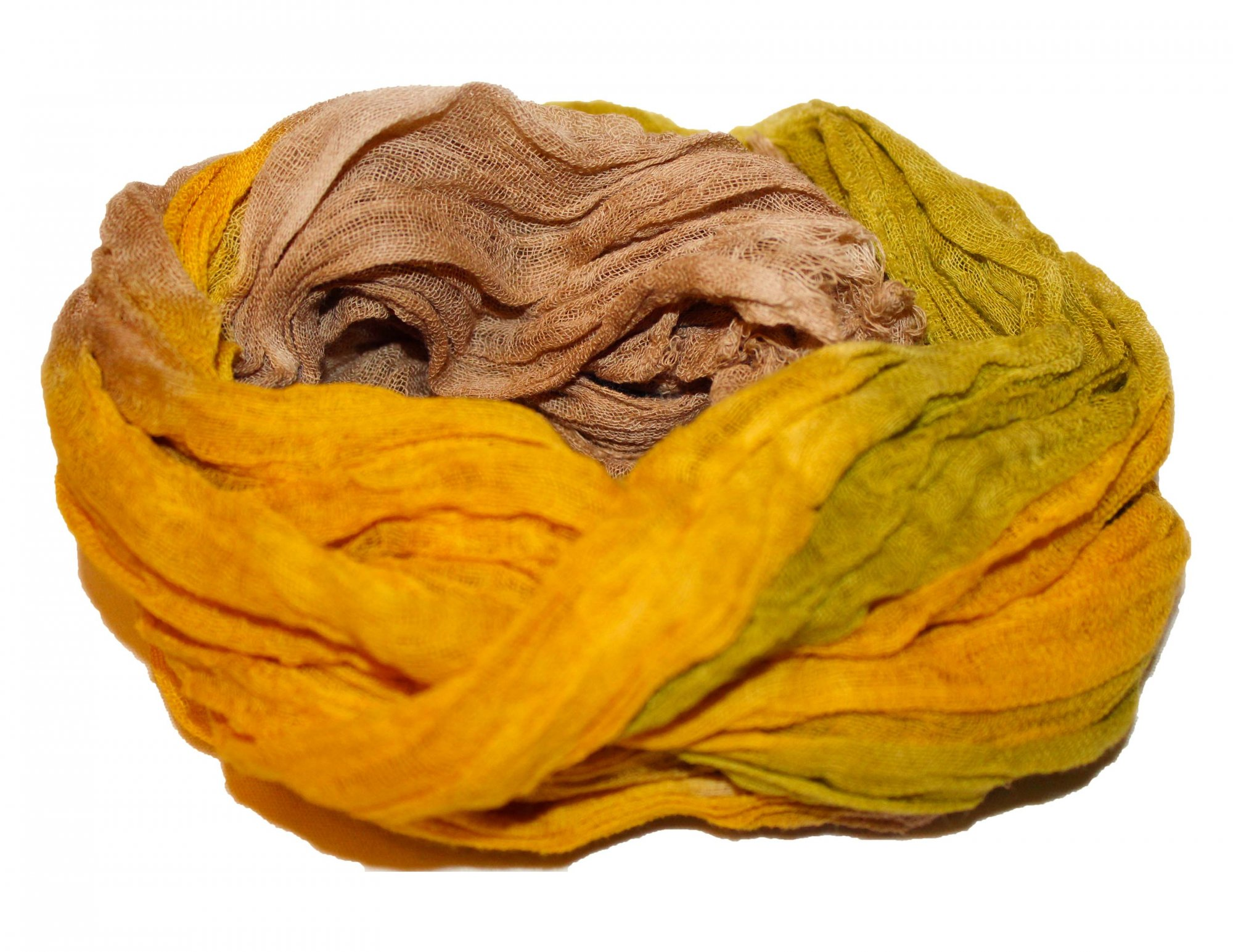 Forest Floor 1yd Hand-Dyed Cheesecloth