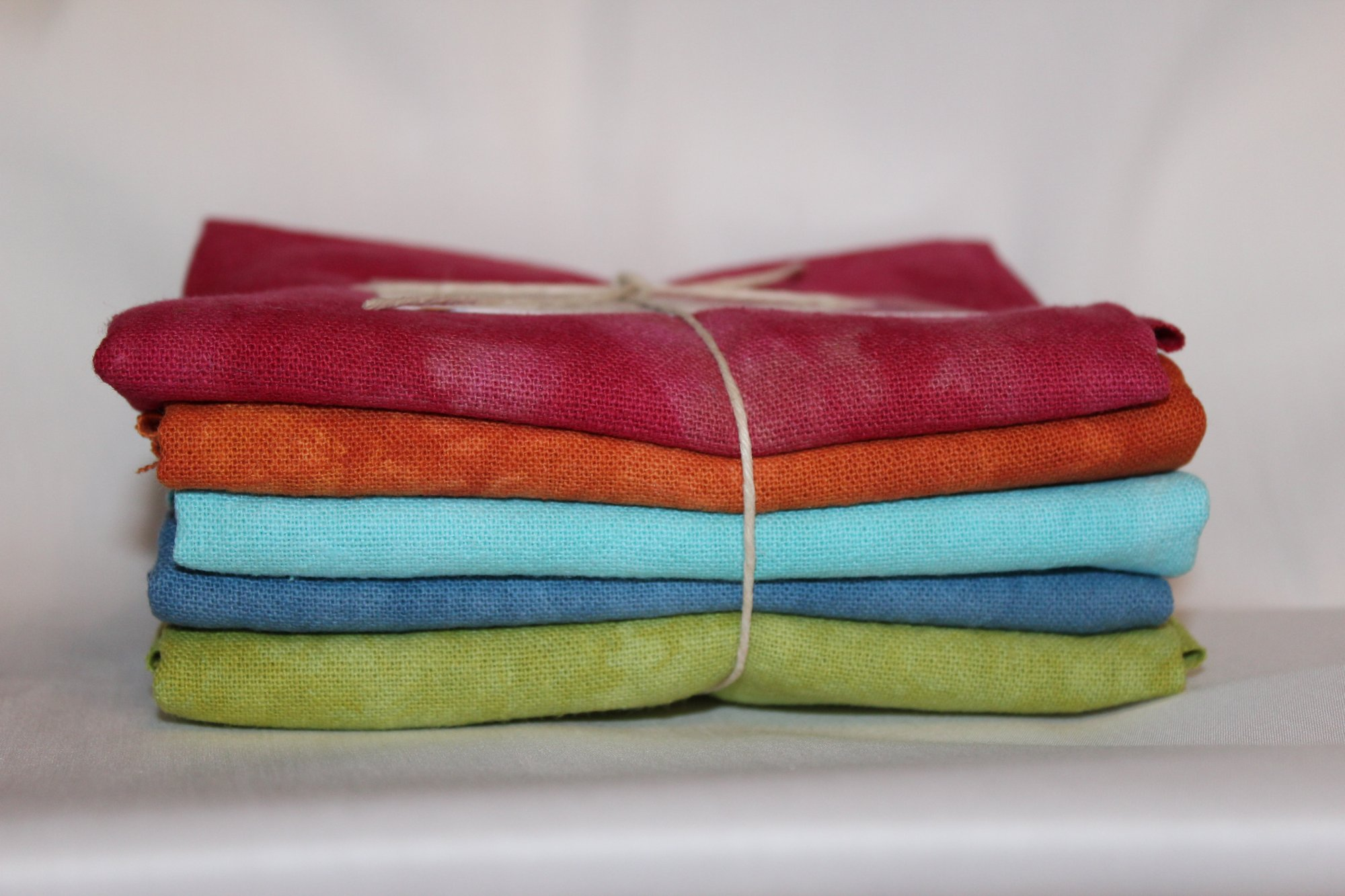 Jewel Hand-dyed Osnaburg Fat Quarter 5pc Set