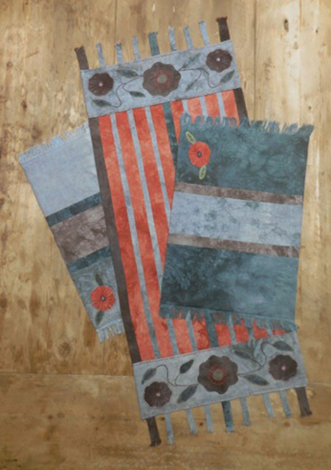 Fringed Tablerunner & Placemats by Reet's Rags to Stitches