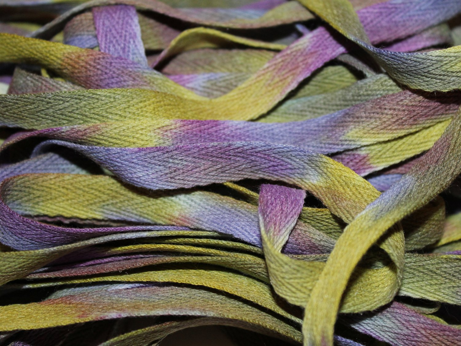 Garden Path - Hand-dyed Cotton Twill Tape 3/8 wide