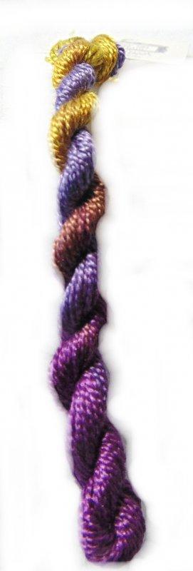 Garden Path Whisper- 10yds Hand-Dyed Fine Silk Thread