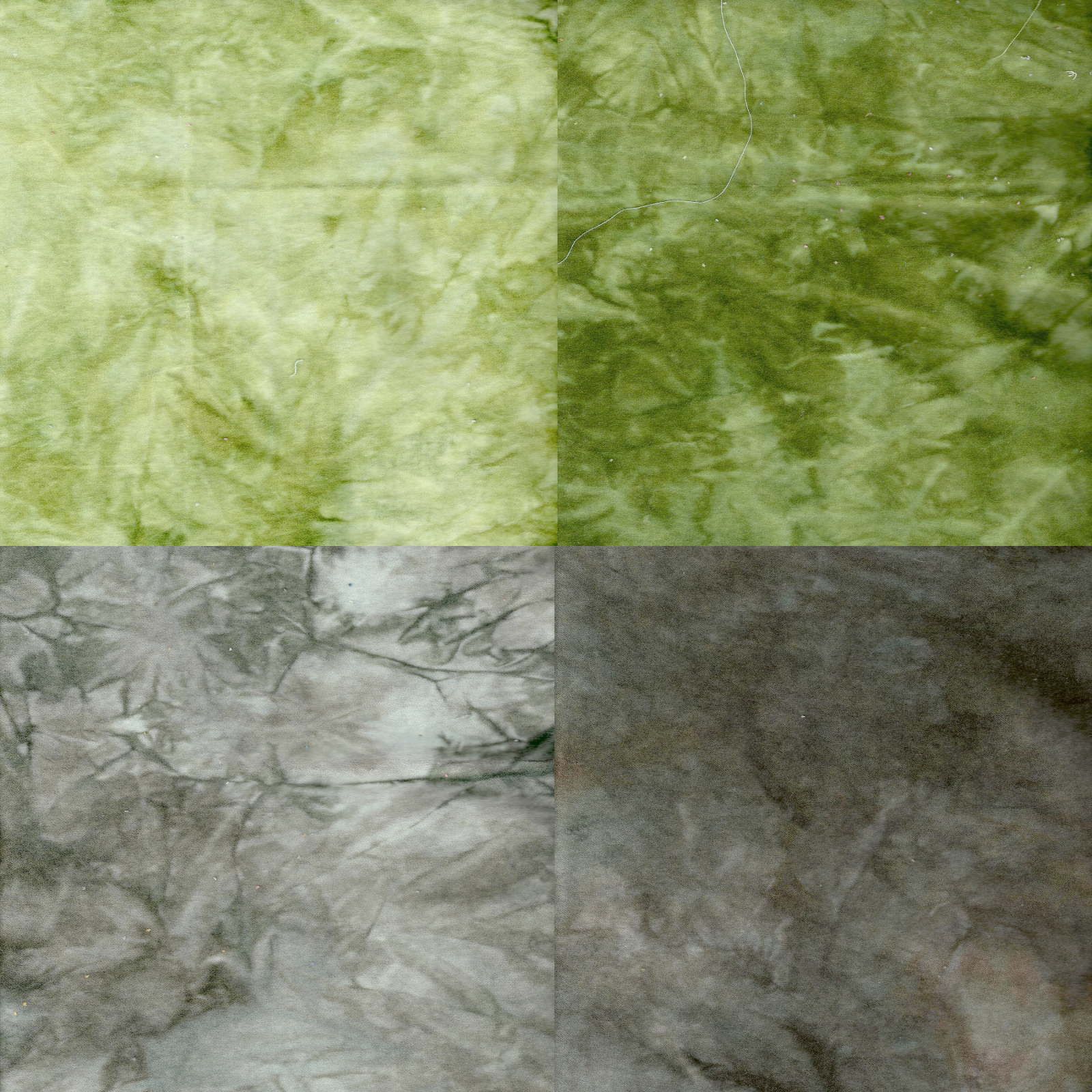 Grasses 4pc Hand-Dyed Cotton Velveteen