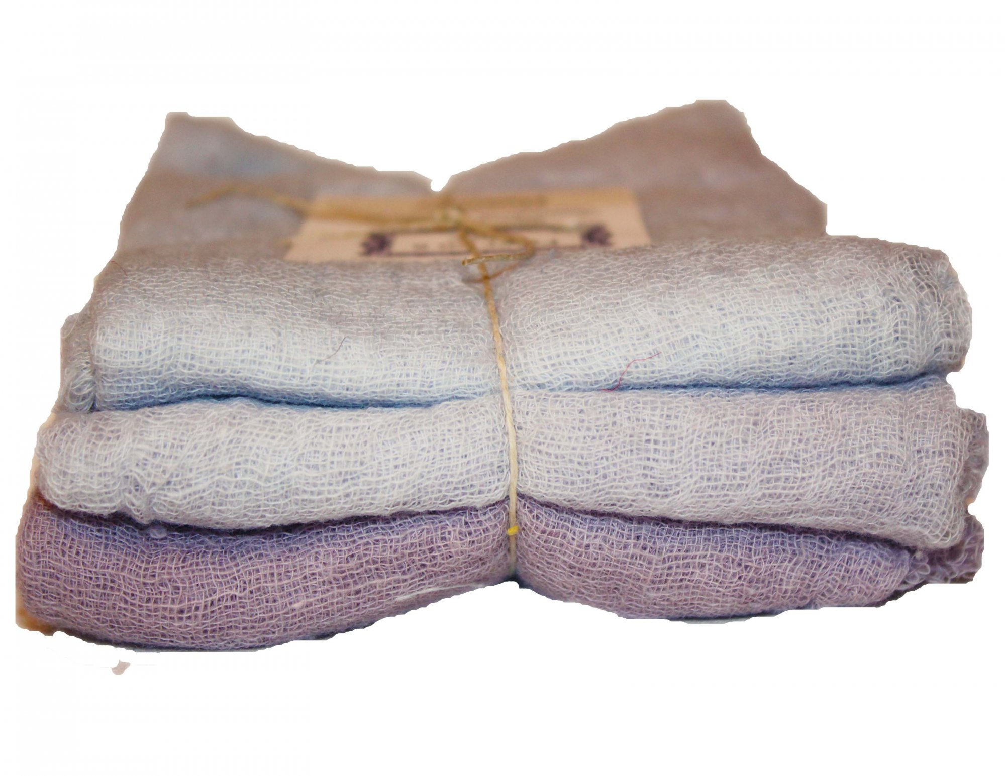 Heather 3pc Hand-Dyed Cheesecloth Gradation