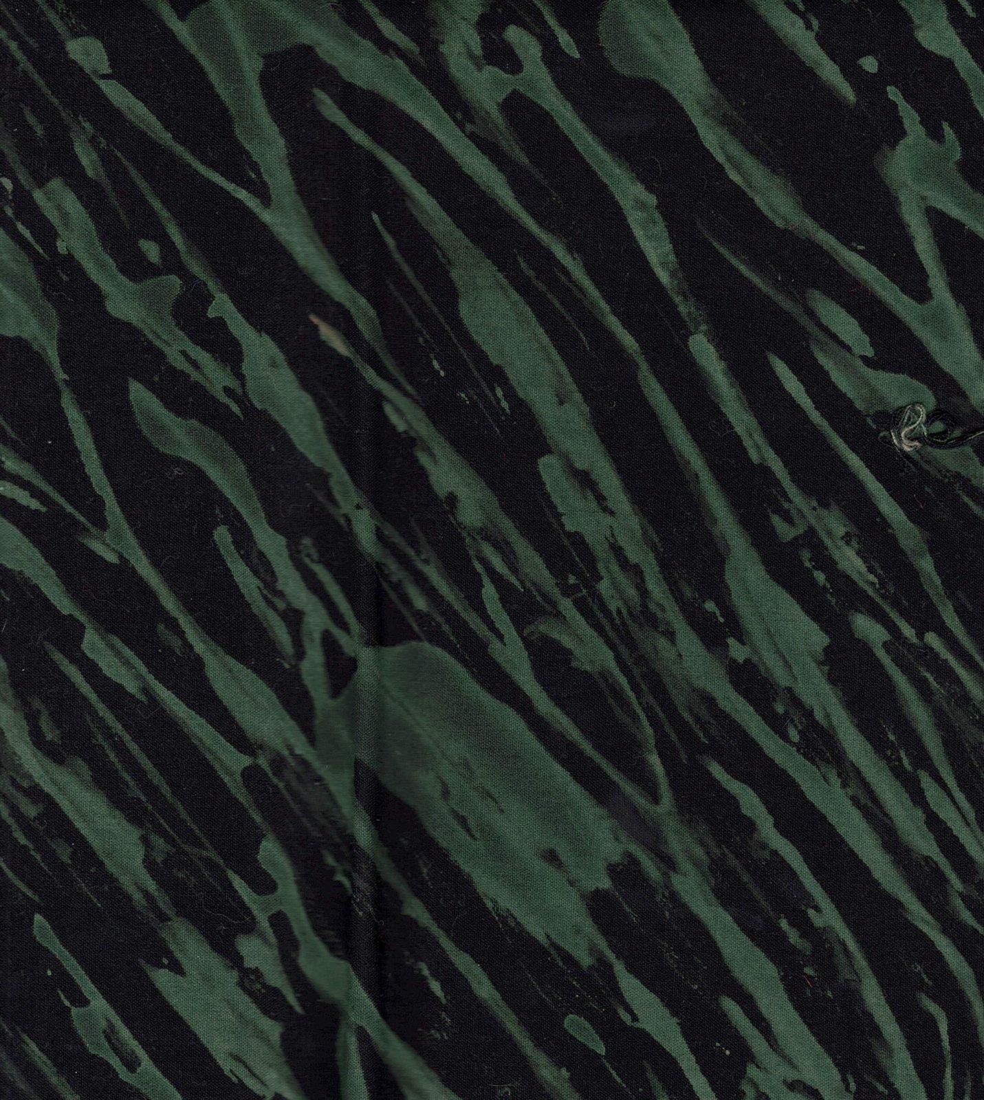 Black/Green Pole Wrap Shibori FQ