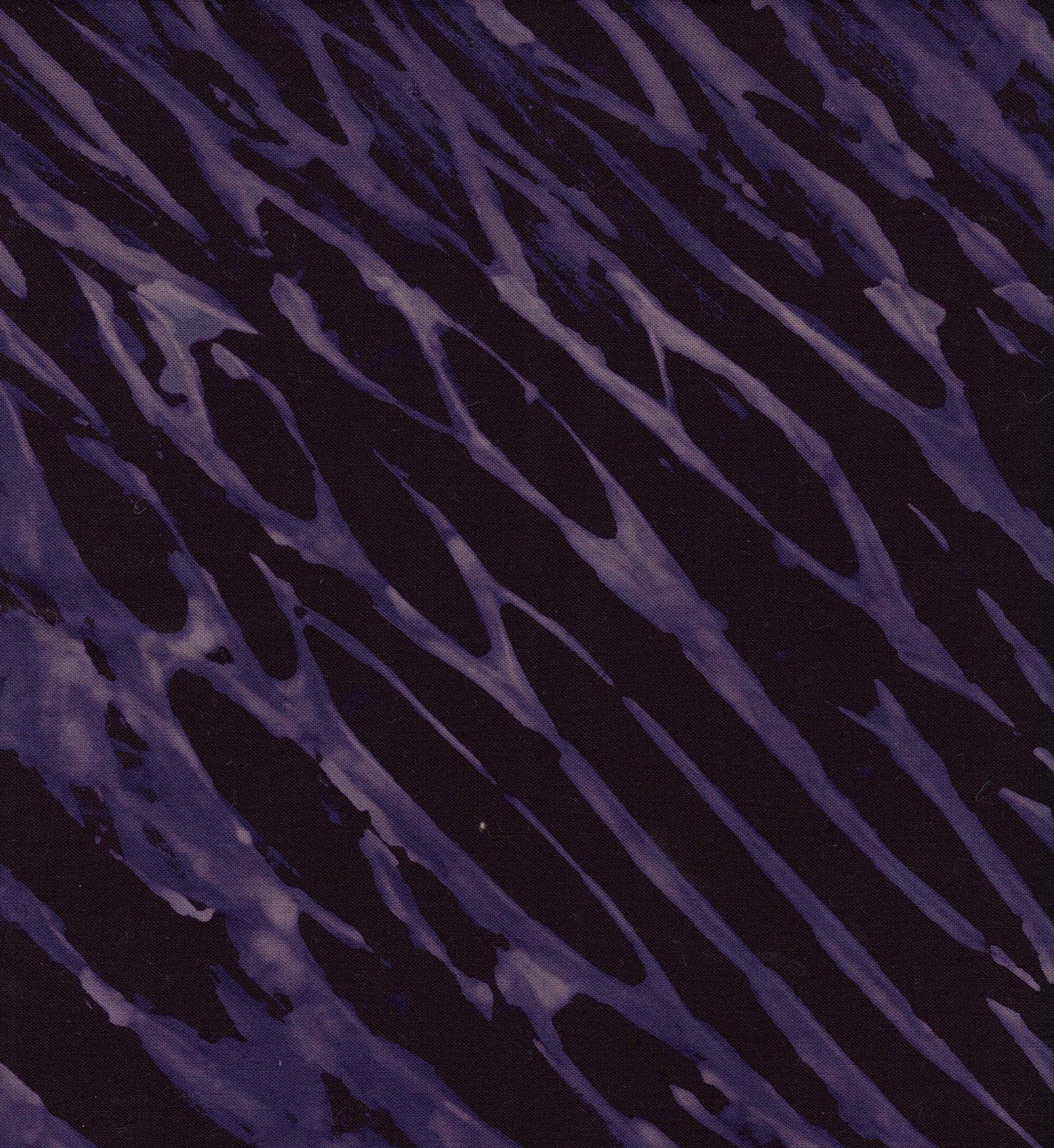 Brown/Purple Pole Wrap Shibori FQ