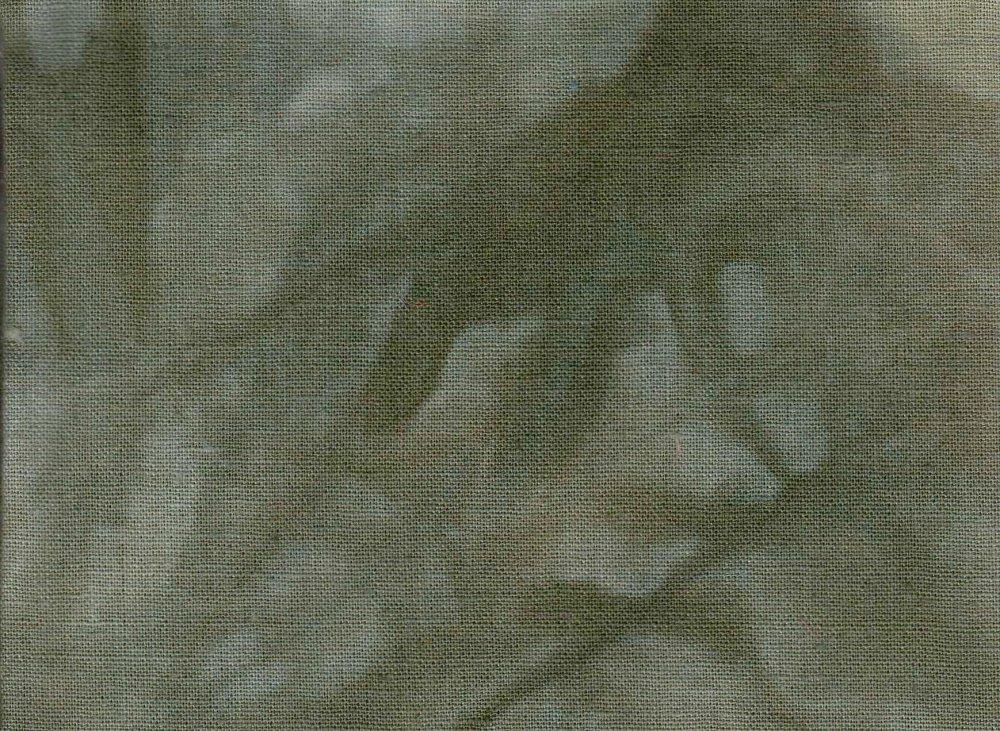 Evergreen Hand-Dyed Linen Fat Quarter