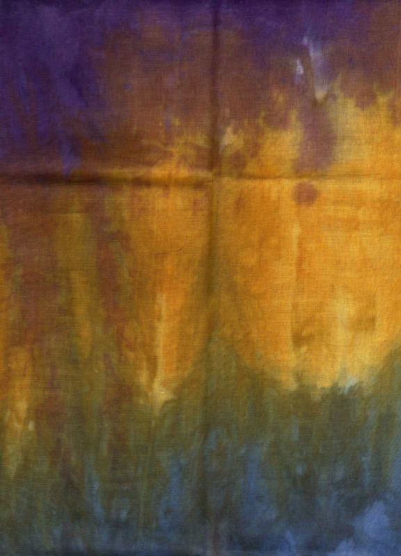Morning Glory Hand-Dyed Organdy FQ